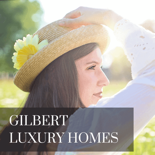 Woman in straw hat looking for Gilbert Arizona Luxury Homes