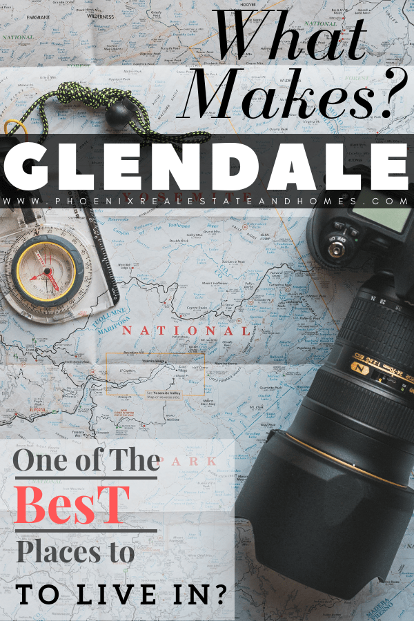 a camera and compass at the top of a map to see the glendale homes for sale