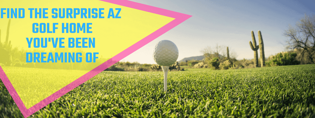 golf ball o a tee in AZ Surprise AZ homes near golf courses