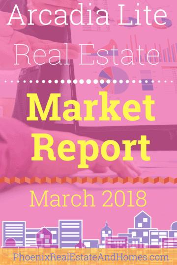 Arcadia Lite Real Estate Market Report - March 2018