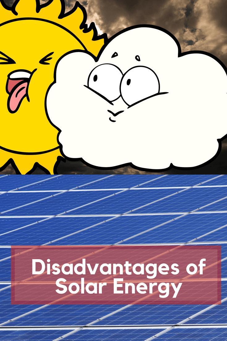Solar panels under dark clouds