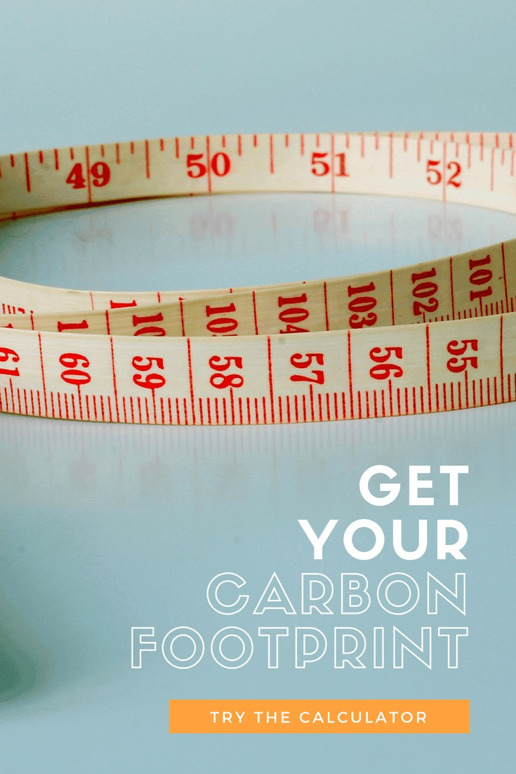 "a measuring tape with ""Get Your Carbon Footprint"" overlaid onto the image"