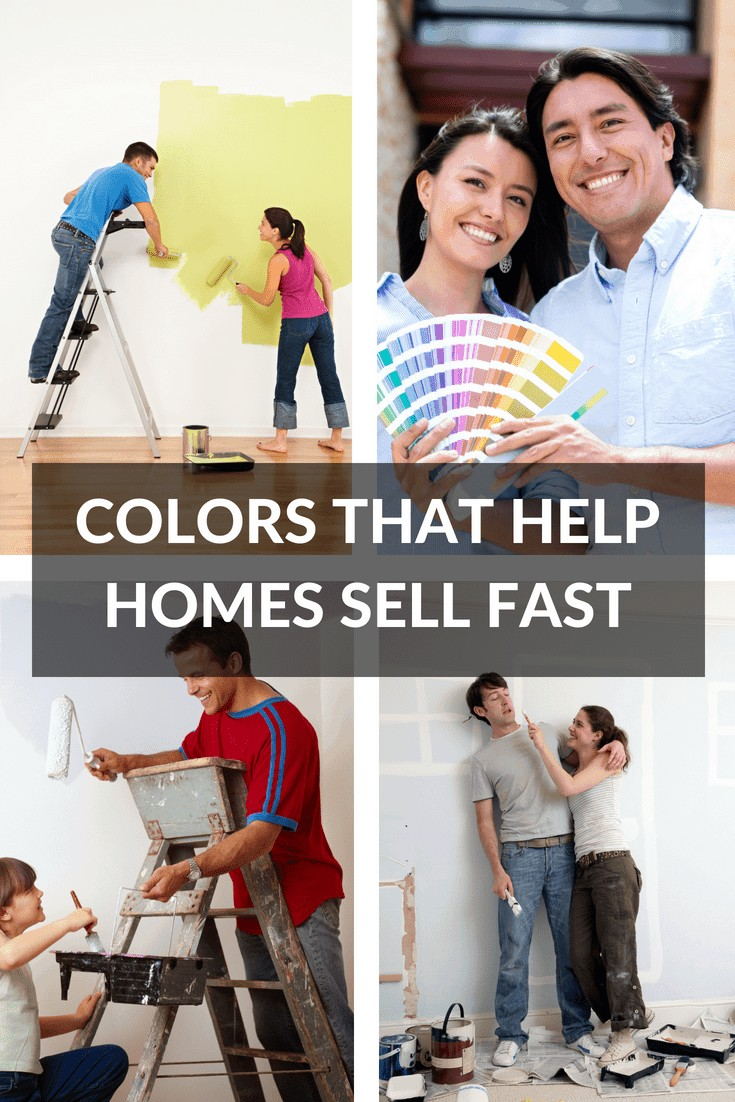 Young couples doing some house painting colors to sell their home fast