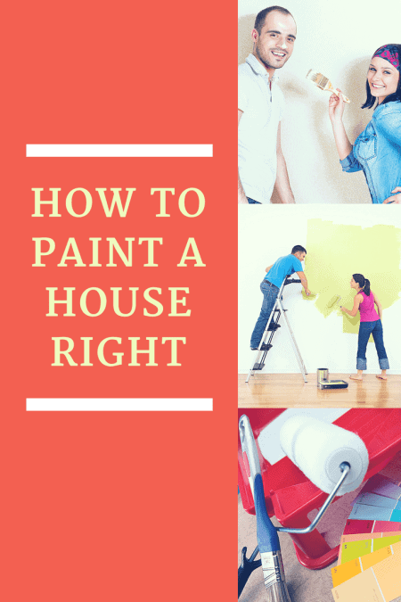 Young beautiful couple painting their new house and teaching each other in How To Paint A House Right