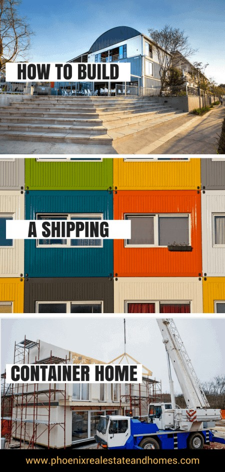 Modern Home Container, Stacked Home Cotainer Houses and Scafoldings for a new Home Container by following the guide onHow to Build a Shipping container home