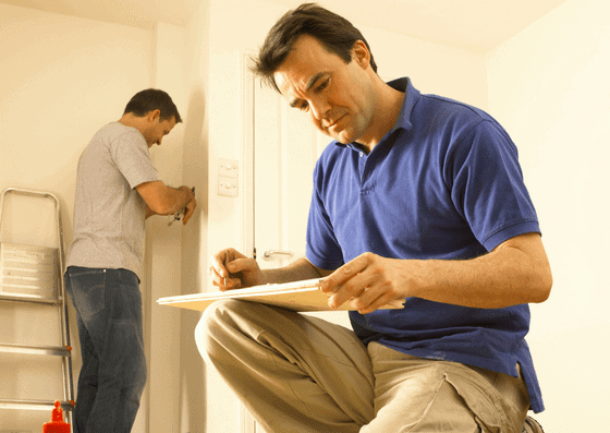 Professionals working on home improvements for your home equity