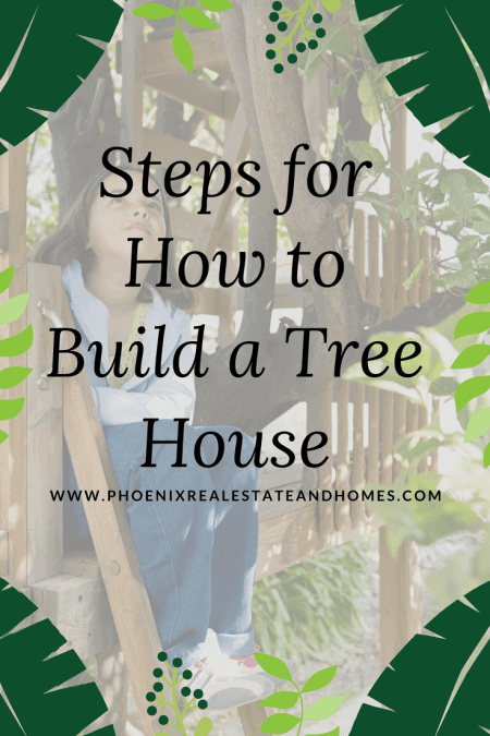 Beautiful Young Girl sitting on her newly built treehouse by following the How to Build a Treehouse guide