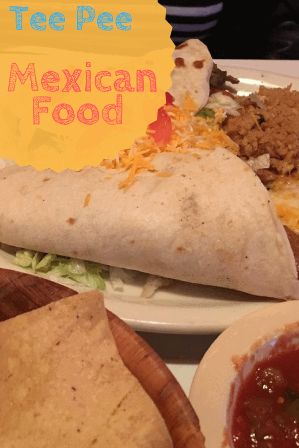 tacos, chips, and salsa at the Famour Tee Pee Mexican Food restaurant in Phoenix Arizona