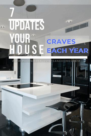 A modern kitchen fter making House Updates