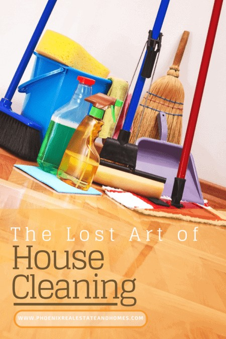 Cleaning Tools prepared following the The Lost Art of House Cleaning Tips