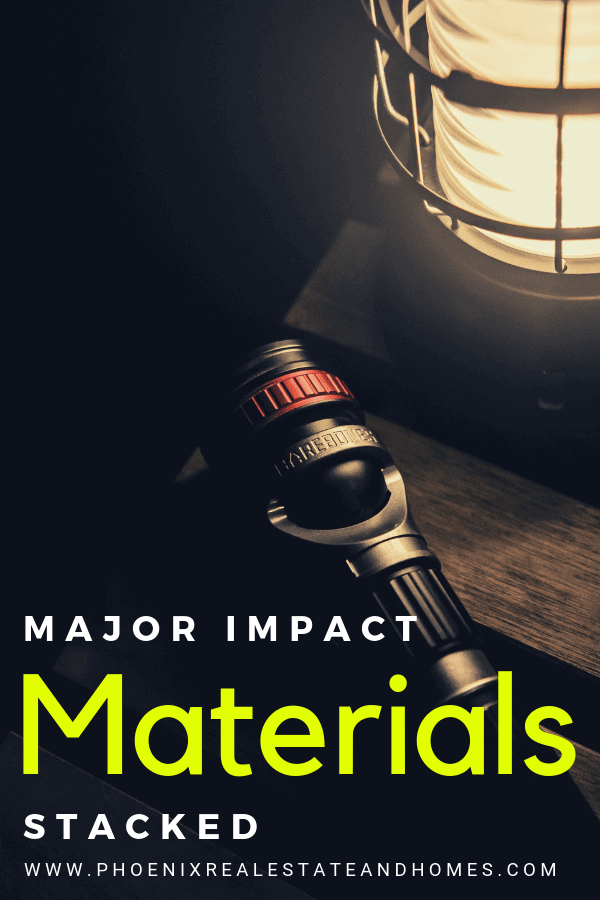 Major Impact Materials Stacked at home