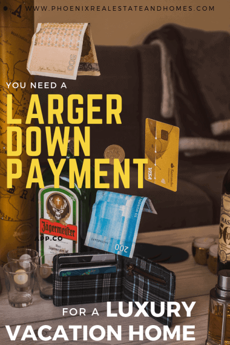 a card and money are falling down outside the wallet to be paid as downpayment