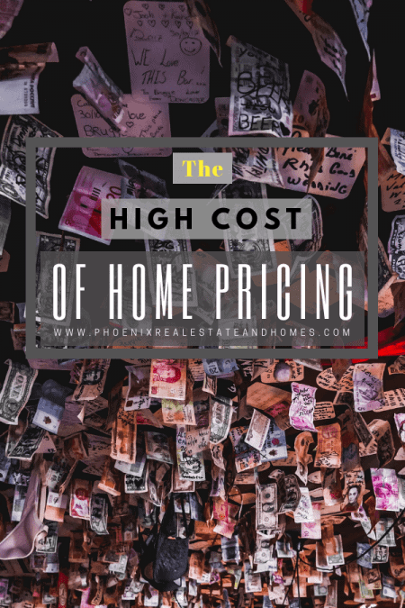 money is stuck in ceiling referring the high cost of home pricing