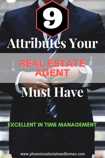 Real estate agent in black suite with 9 attributes your real estate agent must have