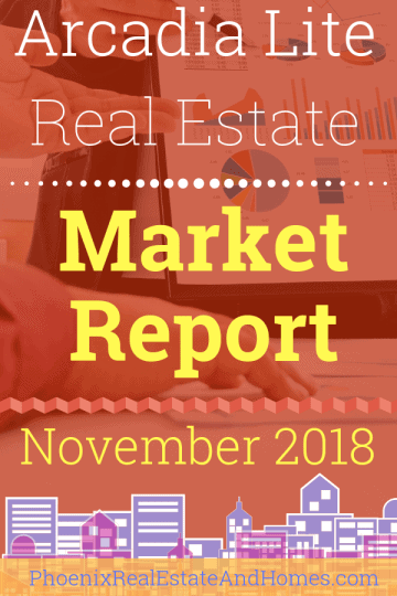 Arcadia Lite Real Estate Market Report - November 2018