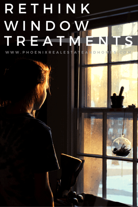 A woman is rethinking of treatments in her window